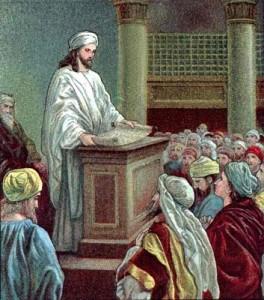 Jésus à la synagogue