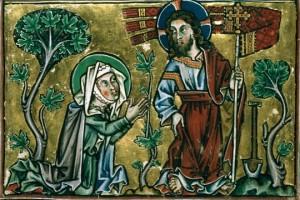 Noli me tangere. Psautier cistercien. XIIIe.
