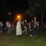 Procession  - veillée pascale - monastère de Posadas