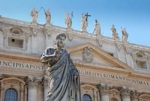 Statue de l'Apotre St Pierre - Basilique St Pierre - Rome