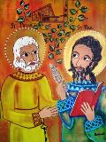 St Pierre et St Paul - oeuvre de  Iléna Lescaut