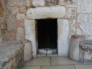 Porte d'entrée de la Basilique de la Nativité à Bethléem