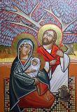 Icône copte de la Ste Famille