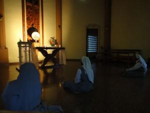 Adoration dans la nuit - monastère de Nagoda - SFB
