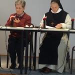 Mère Geneviève-Marie et Sr Maria-Jesus (modératrice)