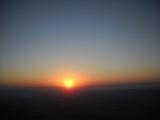 Lever du soleil - Désert dsur le Makhtesh  Ramon