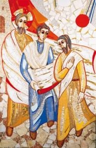 Jésus et les pélerins d'Emmaüs