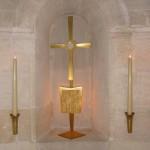 Ostensoir  chapelle de la Sainte Famille - La Solitude