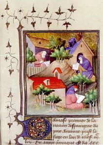 Enluminure - vie monastique
