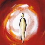 Peinture d'Anne Wouters issue du livre Prologue de Jean  Harmoniques bibliques