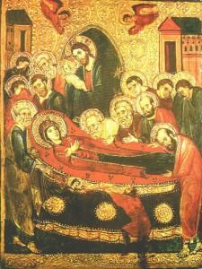 Icône de la dormion de la Verge - monastère  de sainte Catherine du Sinaï