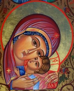 Icône de la Vierge et de l'Enfant Jésus