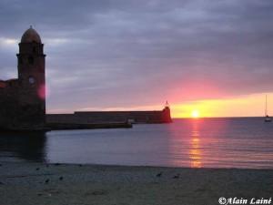 Lever du soleil sur Collioure